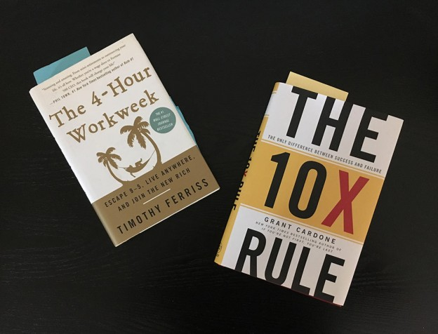 4 hour work week vs. 10x rule